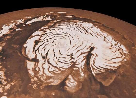 Farming water on Mars