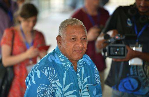 Fiji PM Voreqe Bainimarama, pictured in the nation's capital Suva, in 2014
