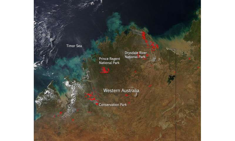Fires in Western Australia April 2015
