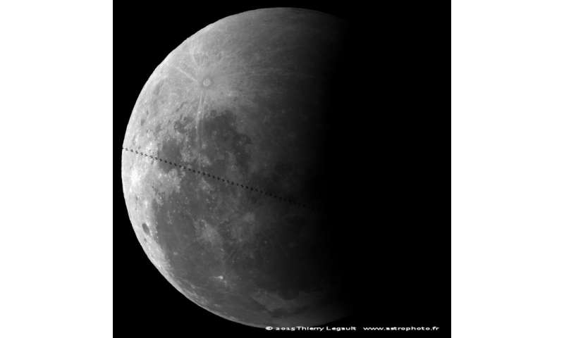 First Lunar Eclipse Ever Photographed with a Transit of the ISS