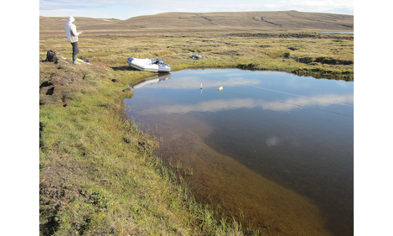 GHG emissions from Canadian Arctic aquatic systems dated for the first time
