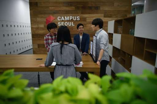 Google has previously opened  campuses in Seoul, pictured, providing a South Korean hub for a new generation of tech entrepreneu