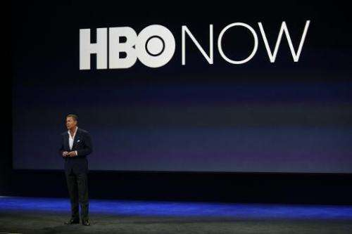HBO CEO Richard Plepler speaks on stage during an Apple special event at the Yerba Buena Center for the Arts on March 9, 2015, i