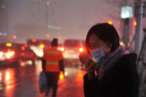 Heavy smog shrouds northeastern China as winter begins