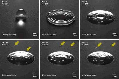 High-speed imaging captures raindrops releasing clouds of aerosols on impact
