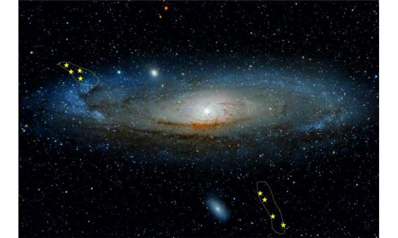 History of Andromeda galaxy studied through stellar remains