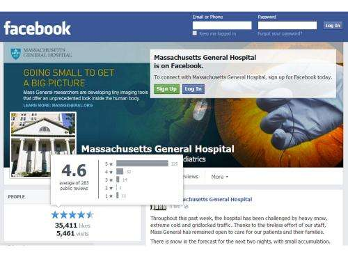 Hospital ratings on social media appear to reflect quality of care