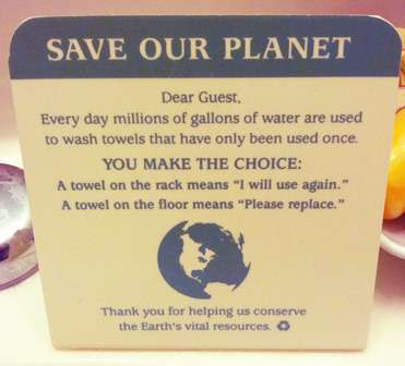 Hotel 'greenwashing' dirties eco-friendly reputation