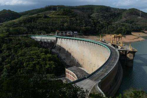 Hydroelectric plant in Itaiatia, about 160km west from Rio de Janeiro, Brazil, on November 11, 2014