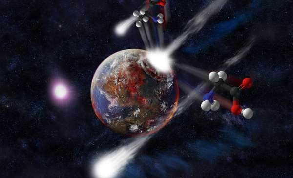 Icy comets serve as storks for life on Earth