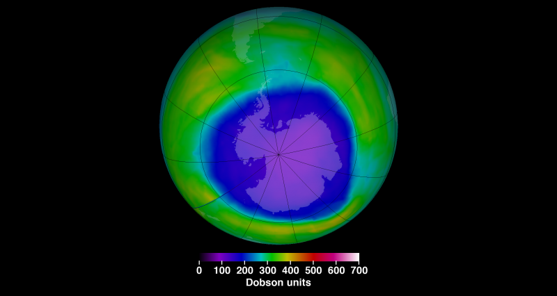 Image: 2015 Antarctic ozone hole area approaches annual maximum