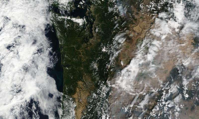 Image: Blazes in the Western states