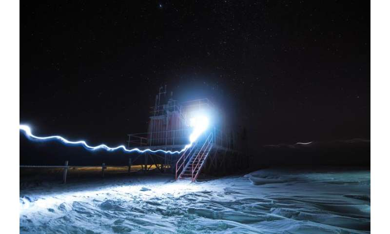 Image: Concordia Antarctic research station in winter