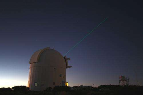 Image: ESA's Optical Ground Station laser tags ISS