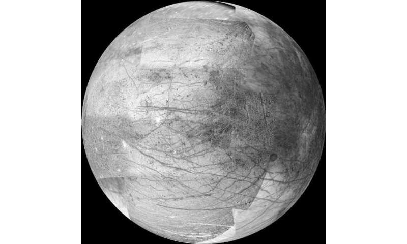 Image: Europa's Jupiter-facing hemisphere