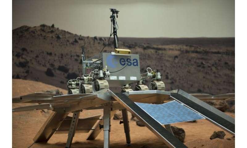 Image: ExoMars rover egress test