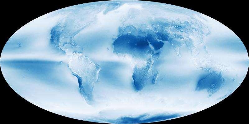 Image: Globalcloud fractionmap of Earth