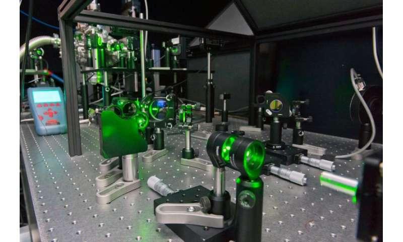 Image: Laser test bench
