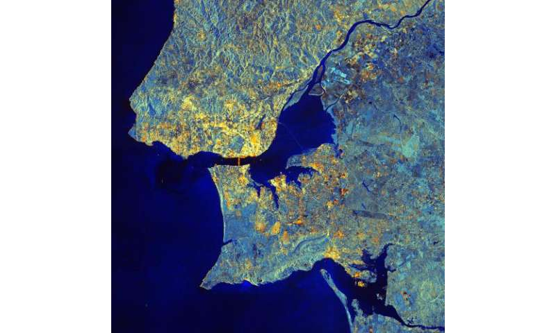 Image: Lisbon, Portugal from orbit