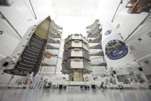 Image: Magnetospheric Multiscale Observatories processed for launch