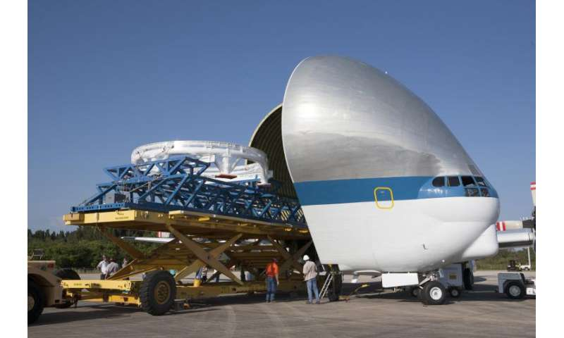Image: Orion service module stacking assembly secured for flight
