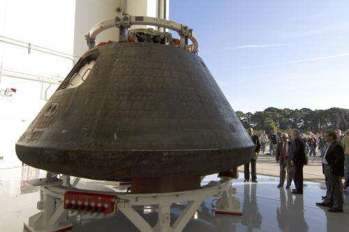 Image: Orion spacecraft in post-mission processing at Kennedy Space Center