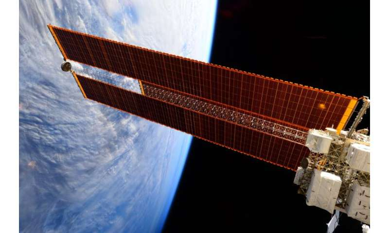 Image: Solar arrays on the International Space Station
