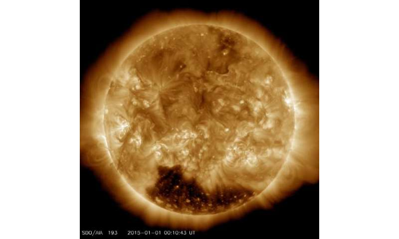 Image: Solar coronal hole welcomes the new year