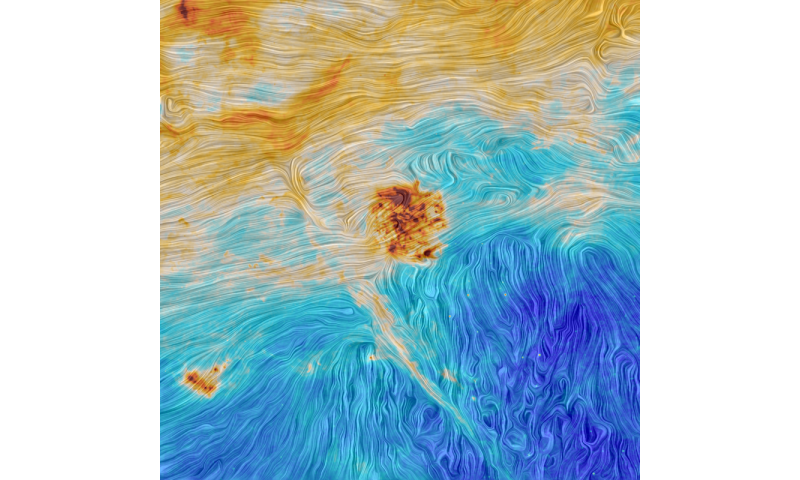Image: The Magellanic Clouds and an interstellar filament