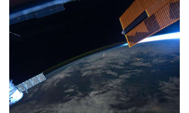 Image: Watching meteors from the space station