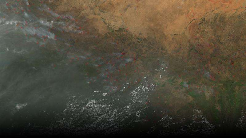 In Africa, more smoke leads to less rain, NASA shows
