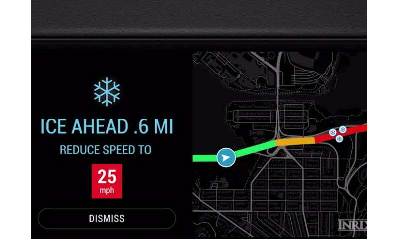 Info tool on weather-related road conditions aids driver safety