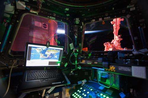 Interior View From the International Space Station Cupola