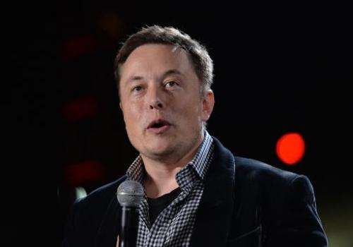 In this October 9, 2014 photo, Tesla founder and chief executive Elon Musk is in Los Angeles
