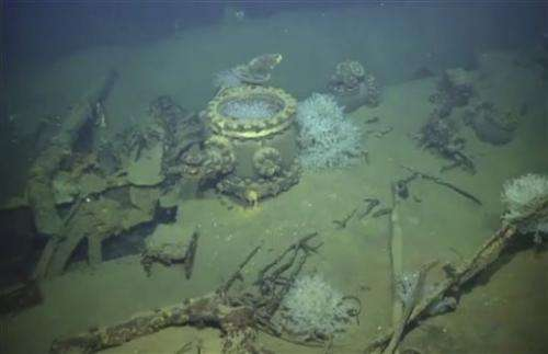 Japanese battleship blew up under water, footage suggests