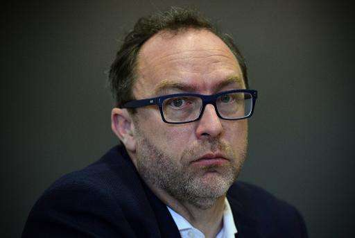 Jimmy Wales, the co-founder of Wikipedia, is pictured on August 6, 2014