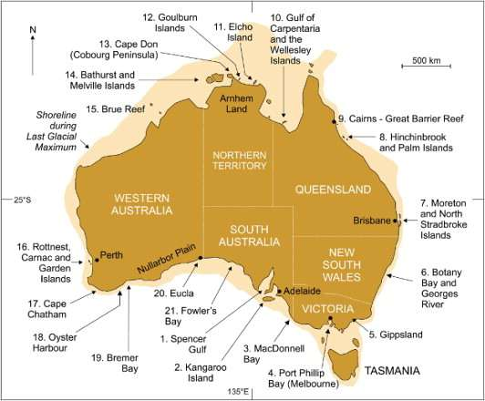 Australia Map Landmarks.Landmark Paper Shows Aboriginal Memories Go Back More Than 7 000 Years