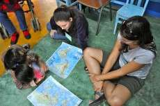 Learning English happens best when conversation part of curriculum