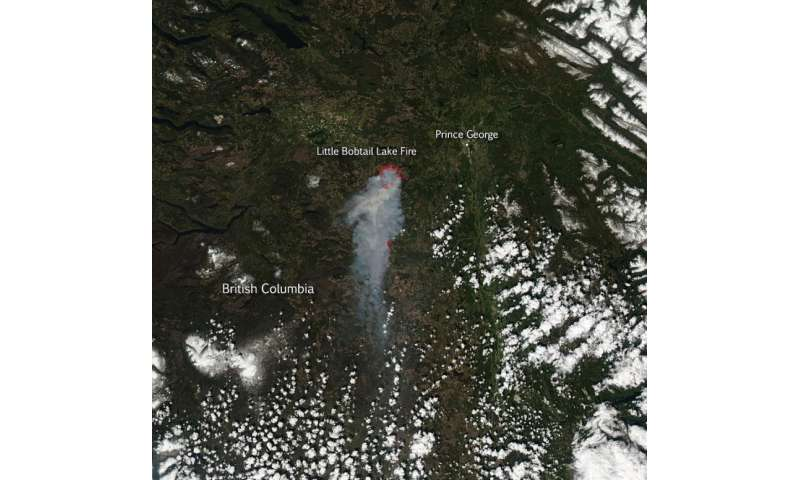 Little Bobtail Lake fire in British Columbia