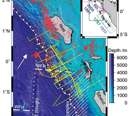 Mapping downgoing plate topography—the 2005 Sumatra earthquake