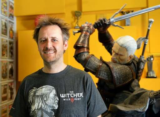 """Marcin Iwinski, co-founder of CD Project Red company which created computer game """"The Witcher 3: Wild Hunt"""" is picture"""