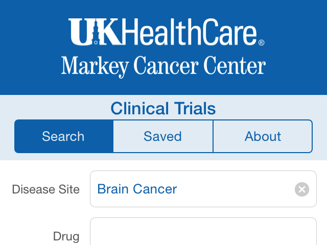 Markey launches app for cancer clinical trials