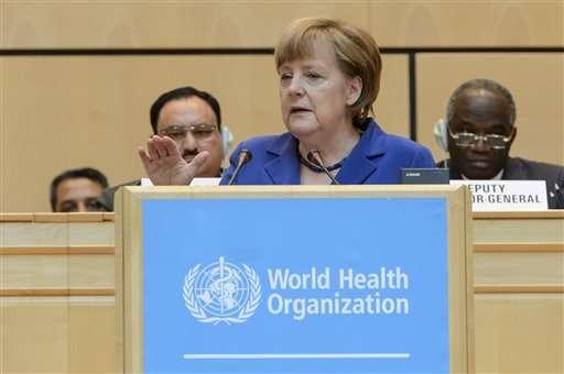 Merkel: Global catastrophe plan needed after Ebola crisis