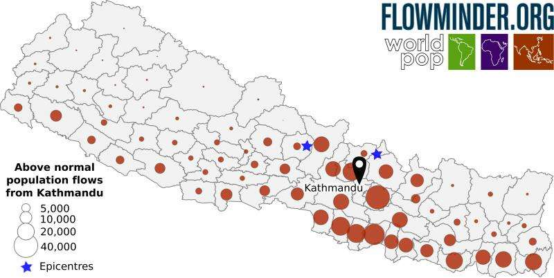 Mobile phone data helps ongoing quake relief effort in Nepal