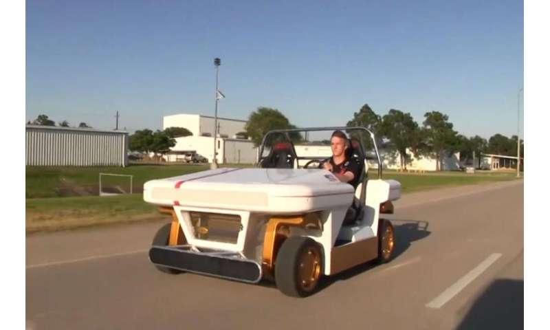 Modular Robotic Vehicle developed at Johnson Space Center