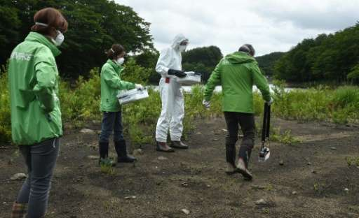More than four years after the Fukushima disaster, crews are still clearing the surrouding area which remains scarred by radiati