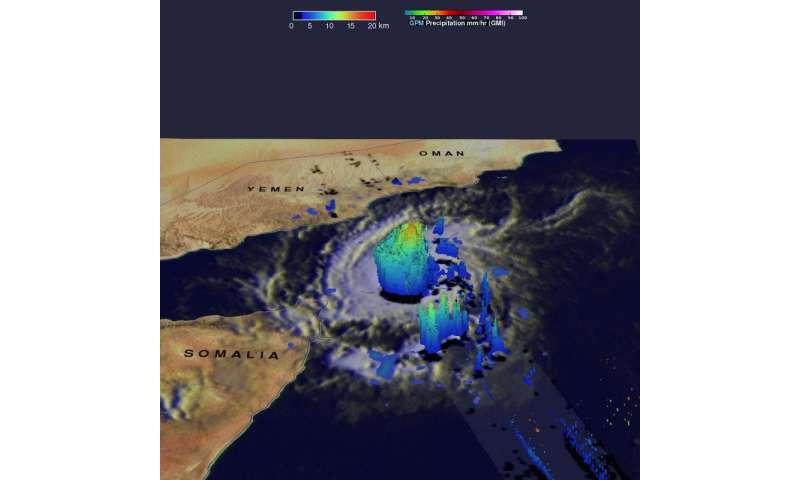NASA adds up rainfall from 2 historic Yemen tropical cyclones