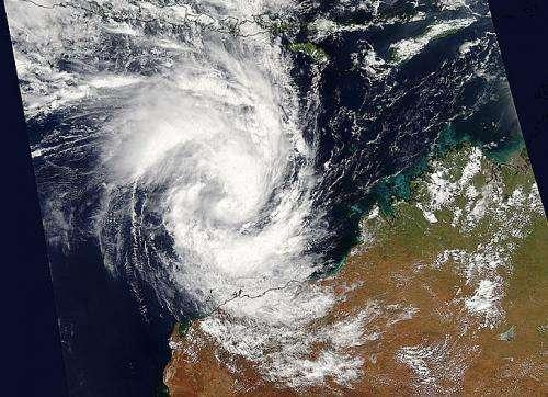 NASA captures birth of Tropical Cyclone Olwyn headed for northwestern Australia
