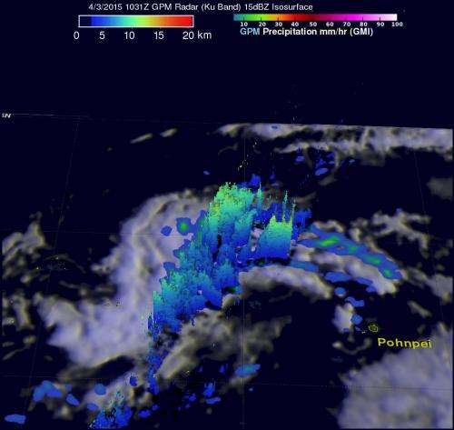 NASA catches a tropical cyclone's birth in 3-D