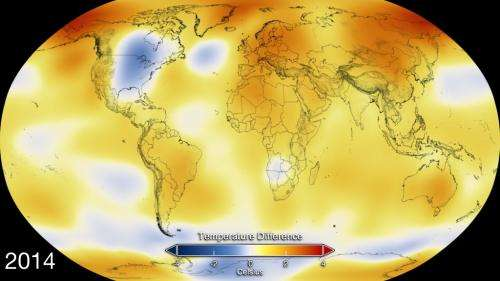 NASA, NOAA find 2014 warmest year in modern record